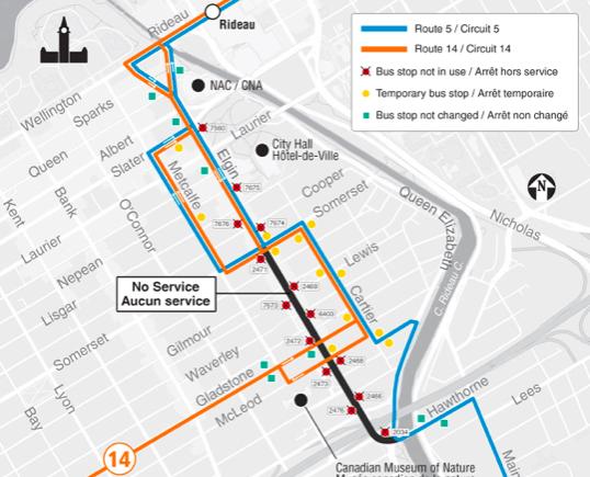 Ottawa route alert
