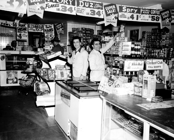 Corey's Market in Burlington during the 1950s. Source: McAllister Photographs, University of Vermont archives