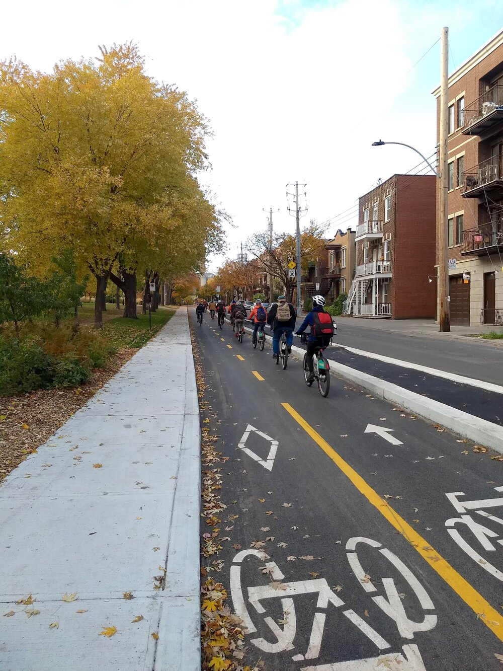 A segment of the 110-mile bike network Montreal plans to complete in the next 10 years. Photo: Jon Kaplan
