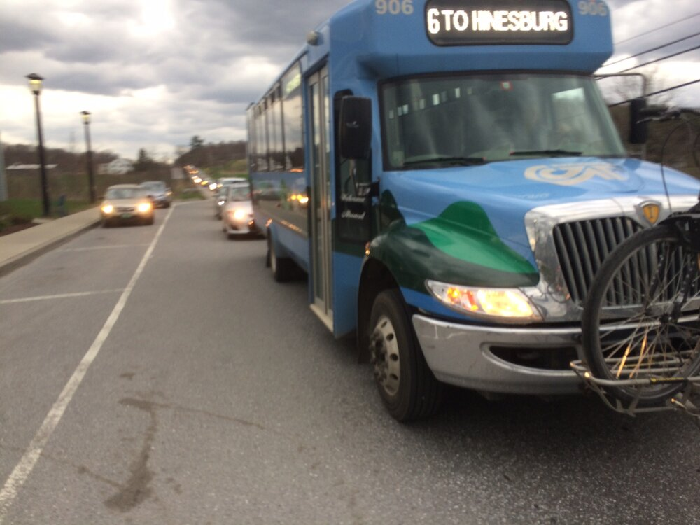 University employees receive a bus pass and guaranteed ride home as part of UVM's TDM program. Source: RIchard Watts