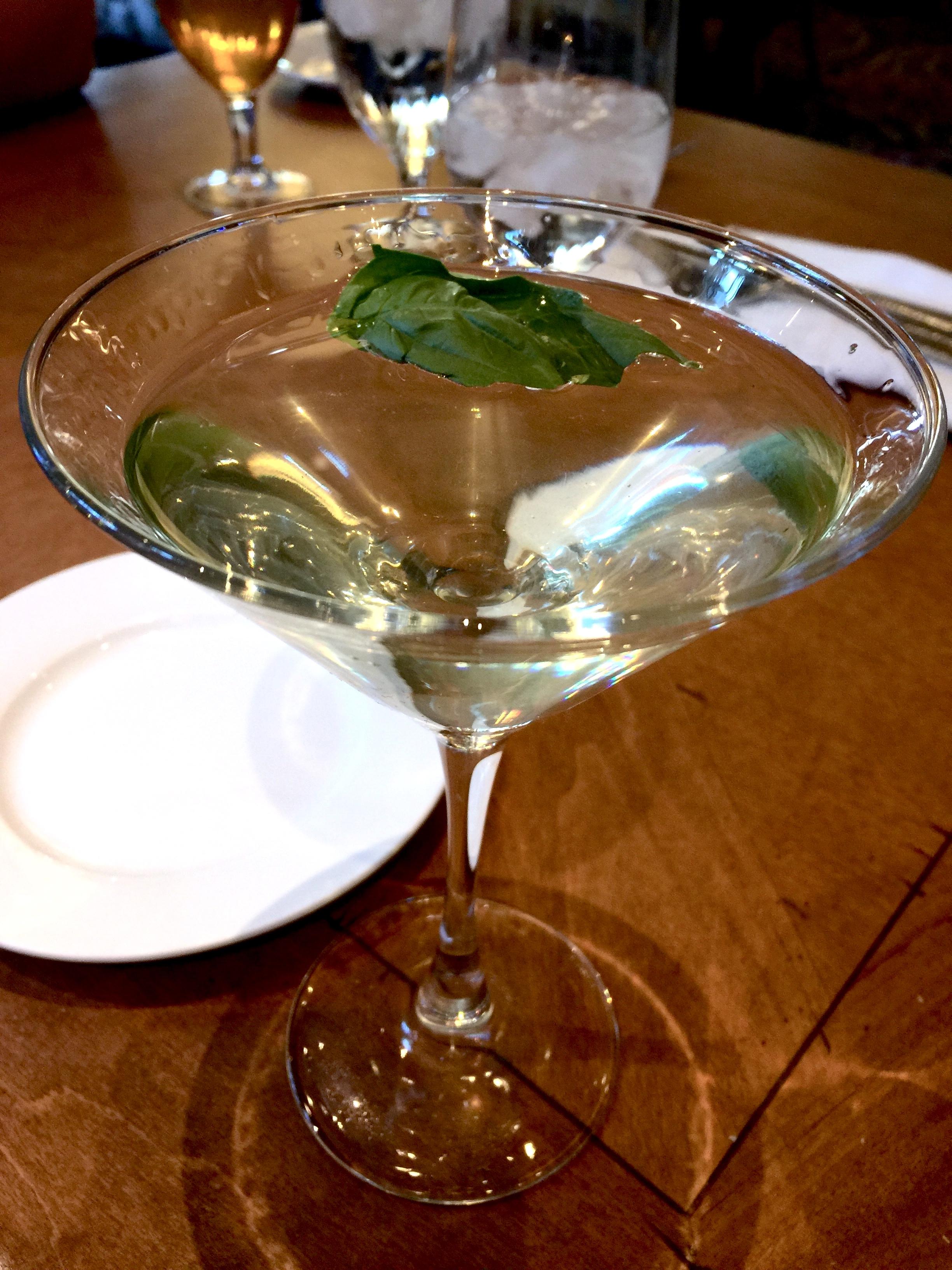 Famous Bellagio Basil Gin Gimlet