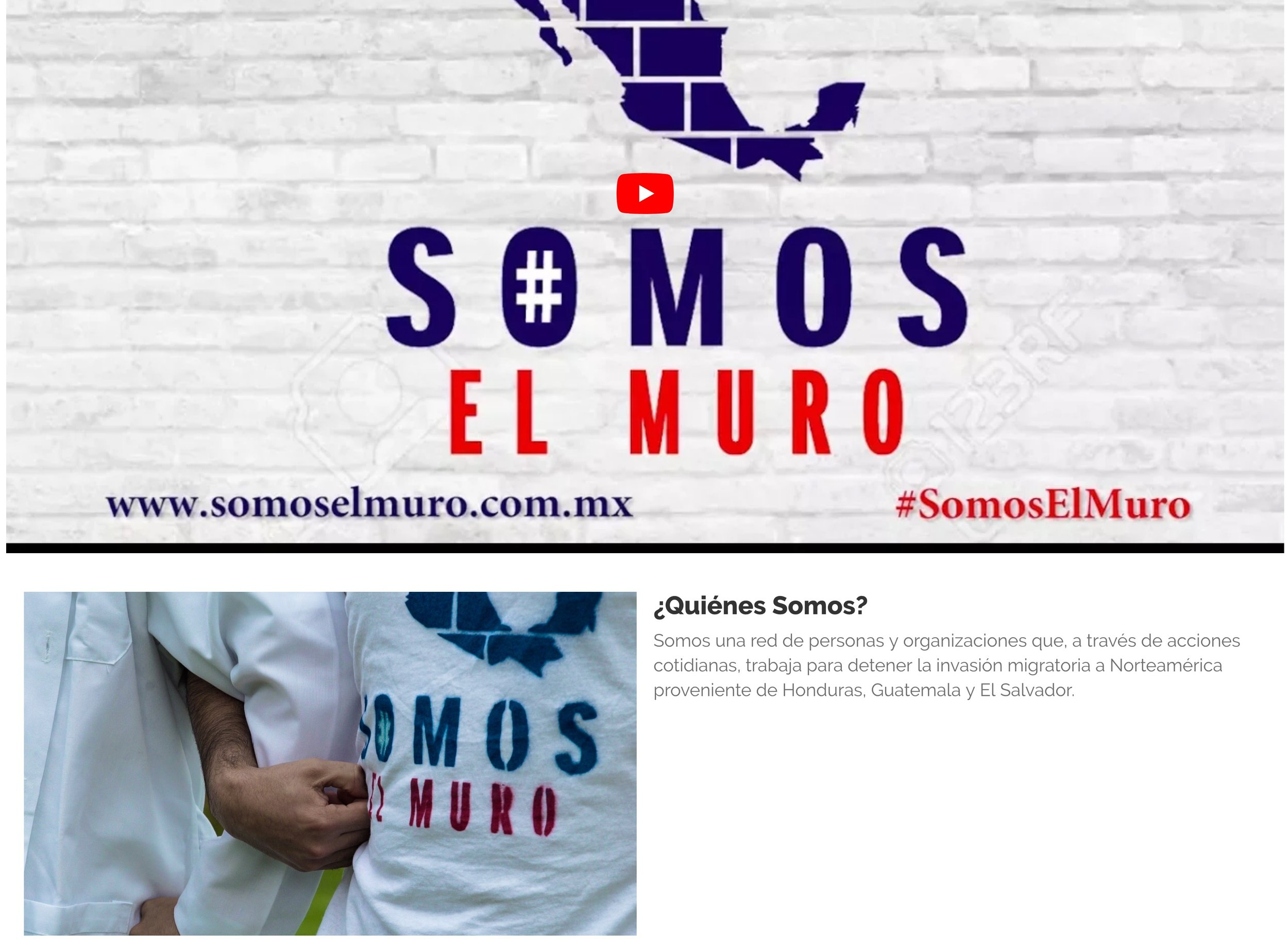 #SomosElMuro website