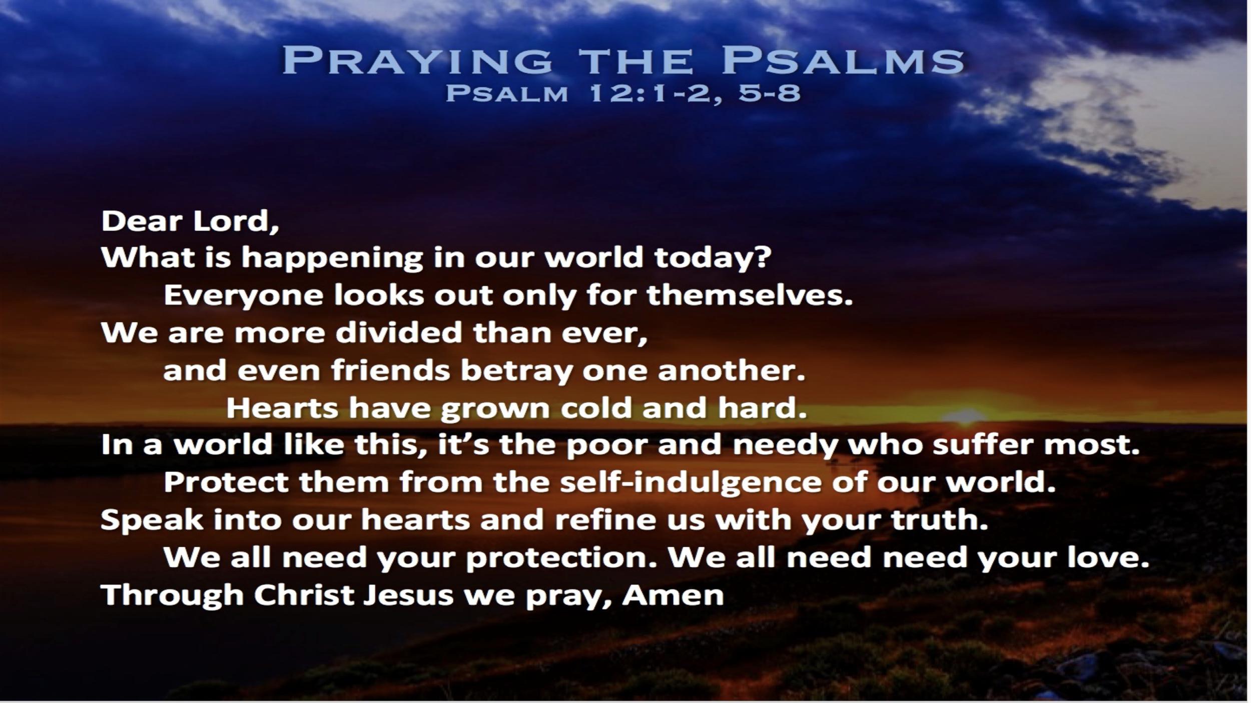 Psalm 12 (Prayer)