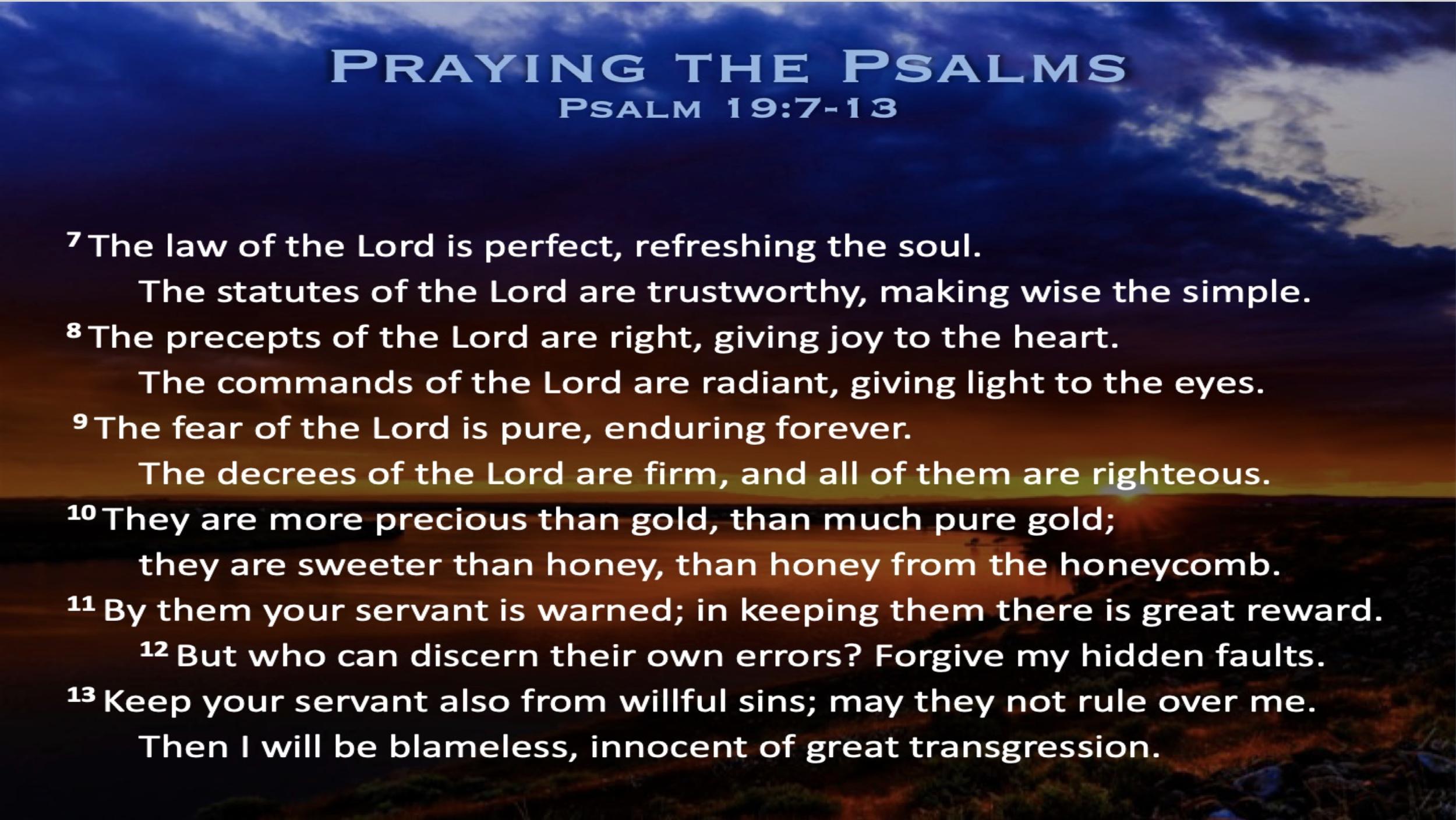 Psalm 19 (Scripture)