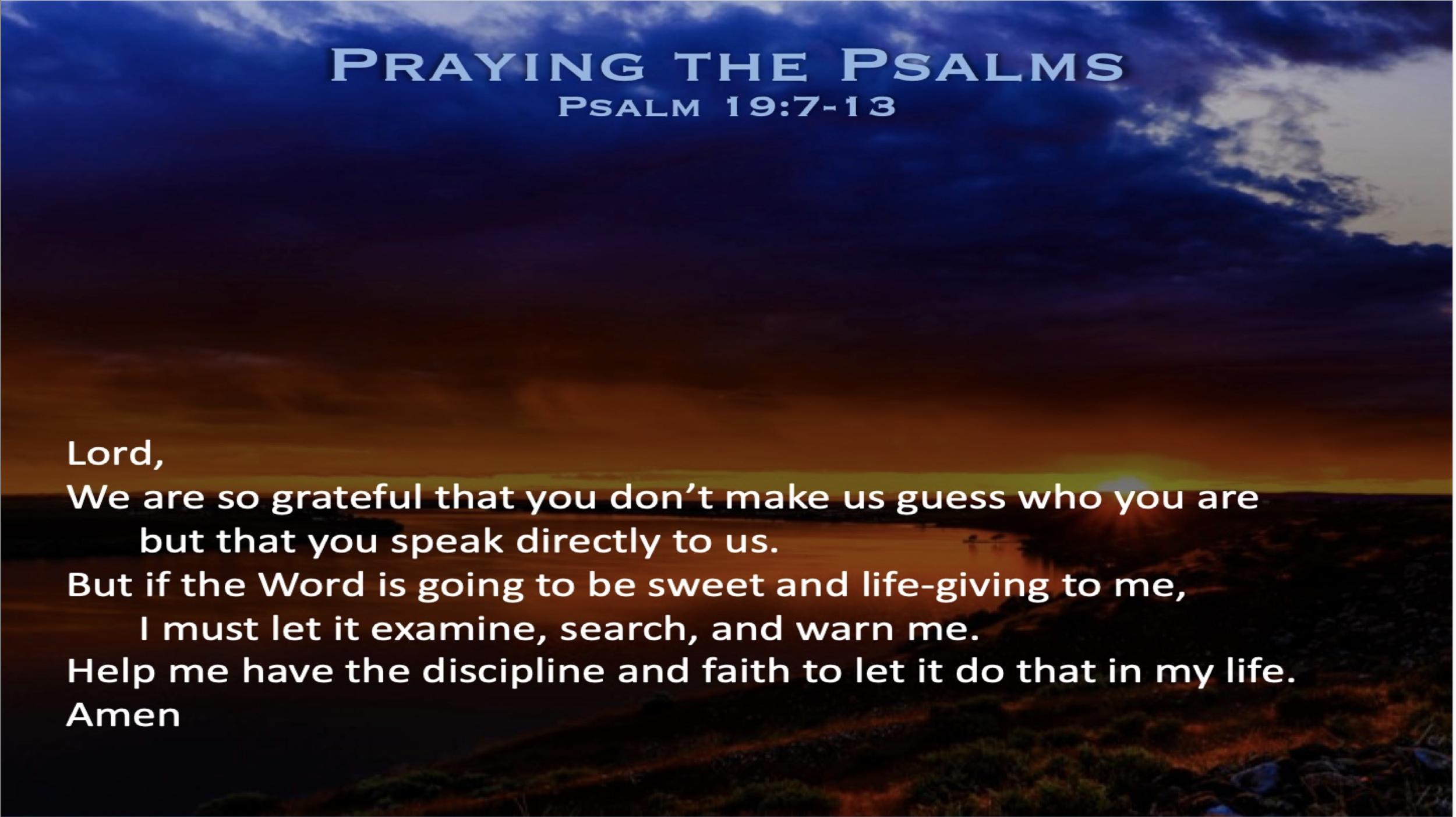 Psalm 19 (Prayer)