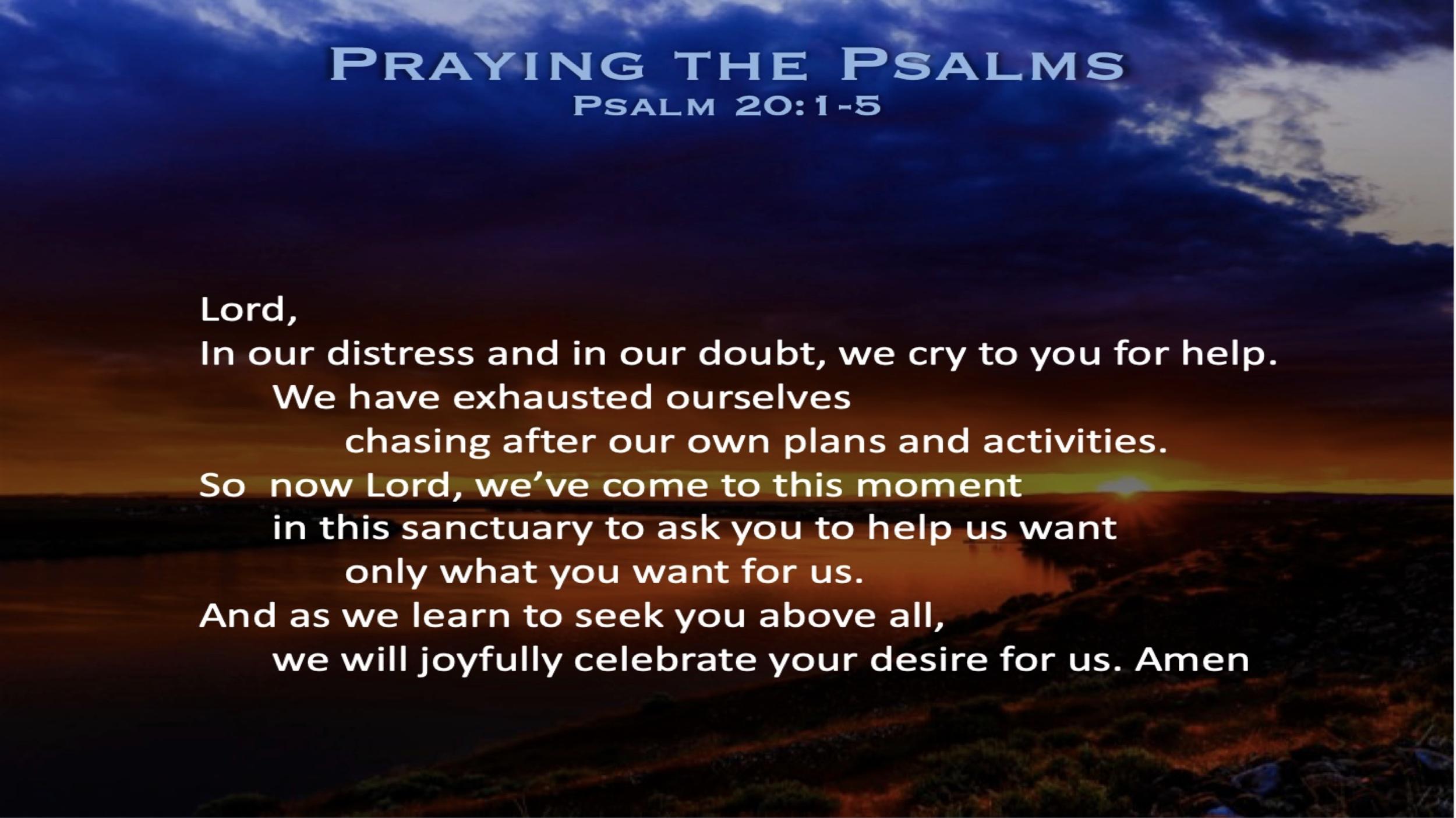 Psalm 20 (Prayer)