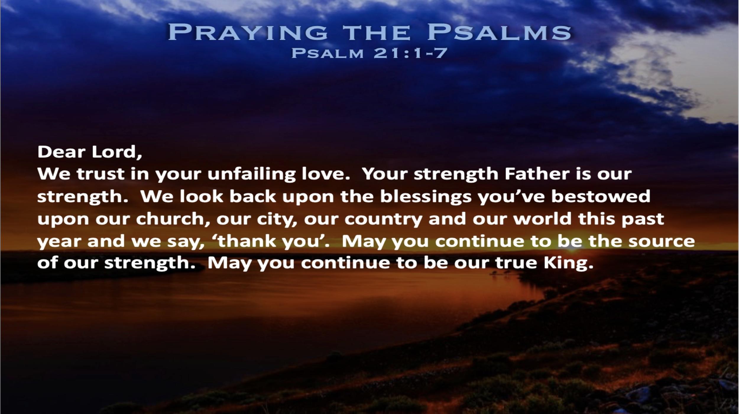 Psalm 21 (Prayer)