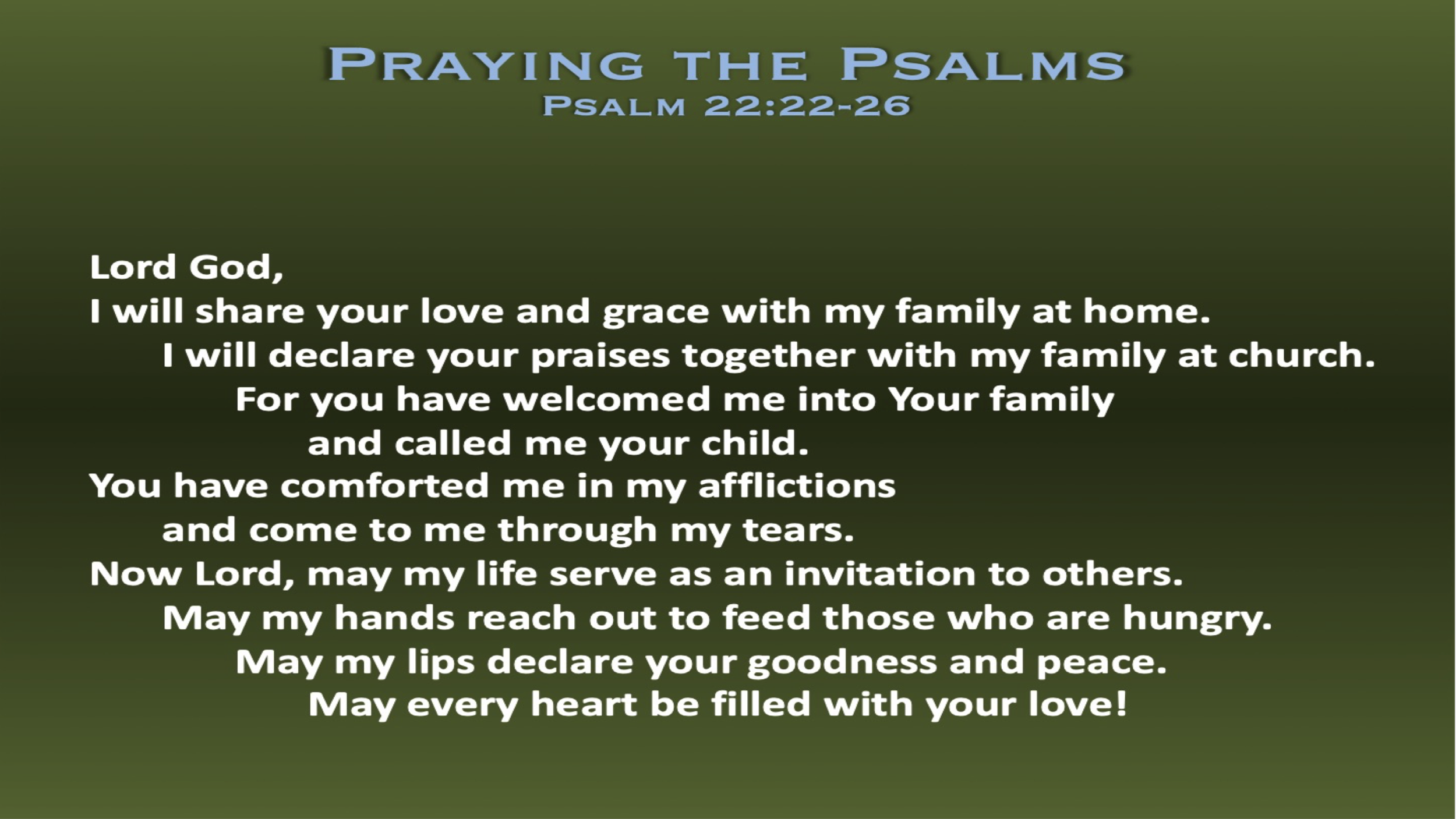 Psalm 22 (Prayer)