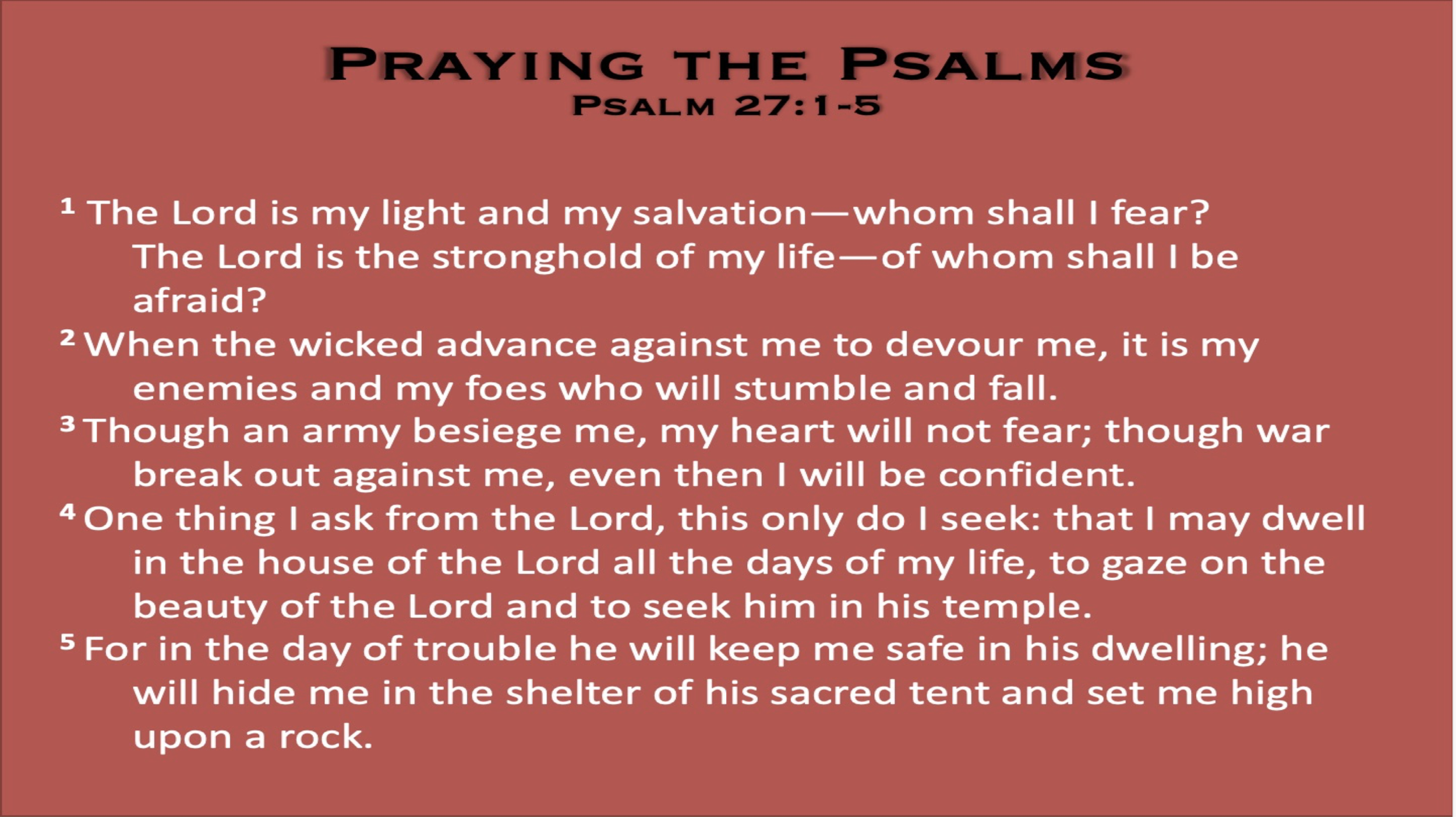 Psalm 27 (Scripture)