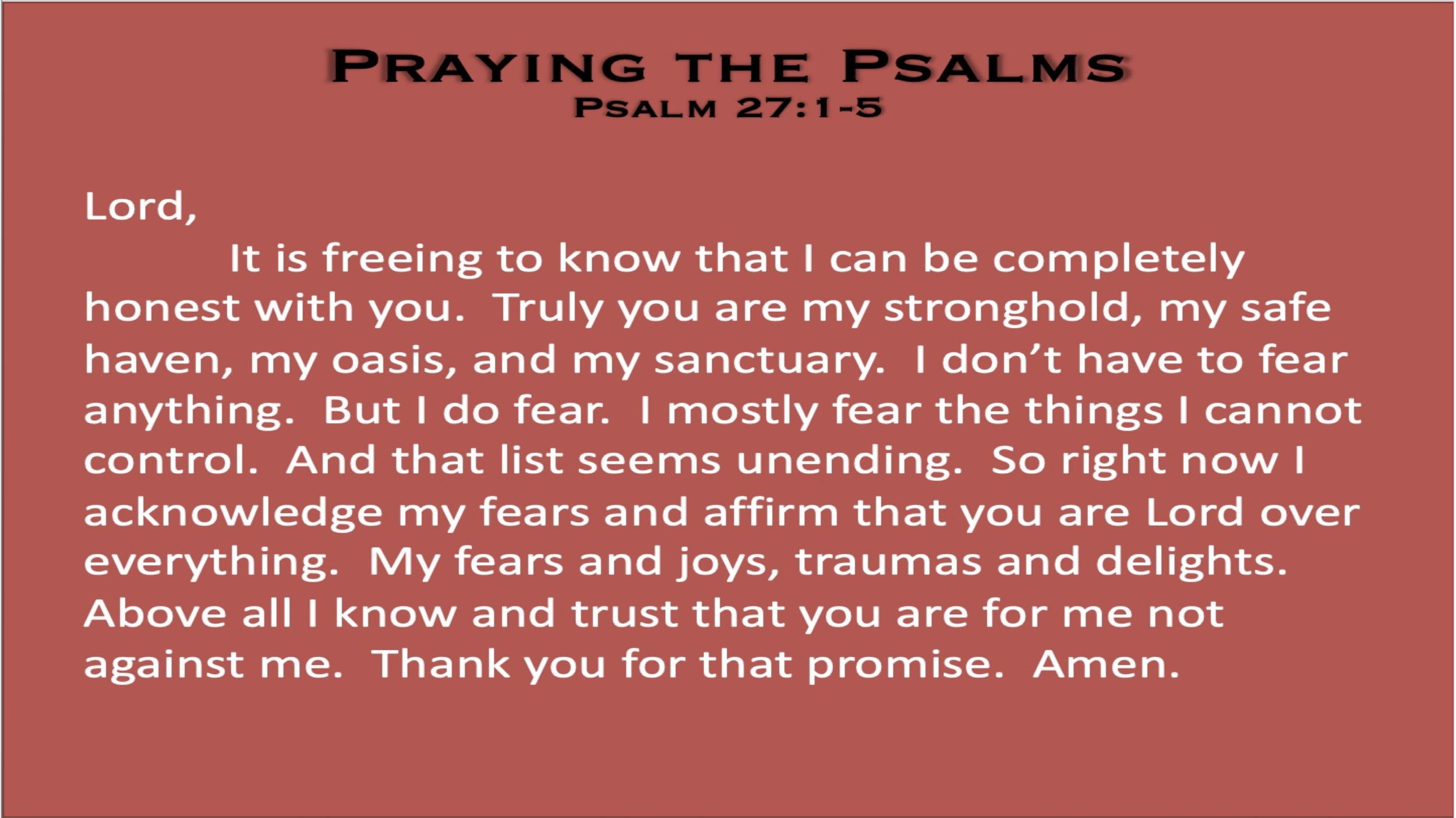 Psalm 27 (Prayer)