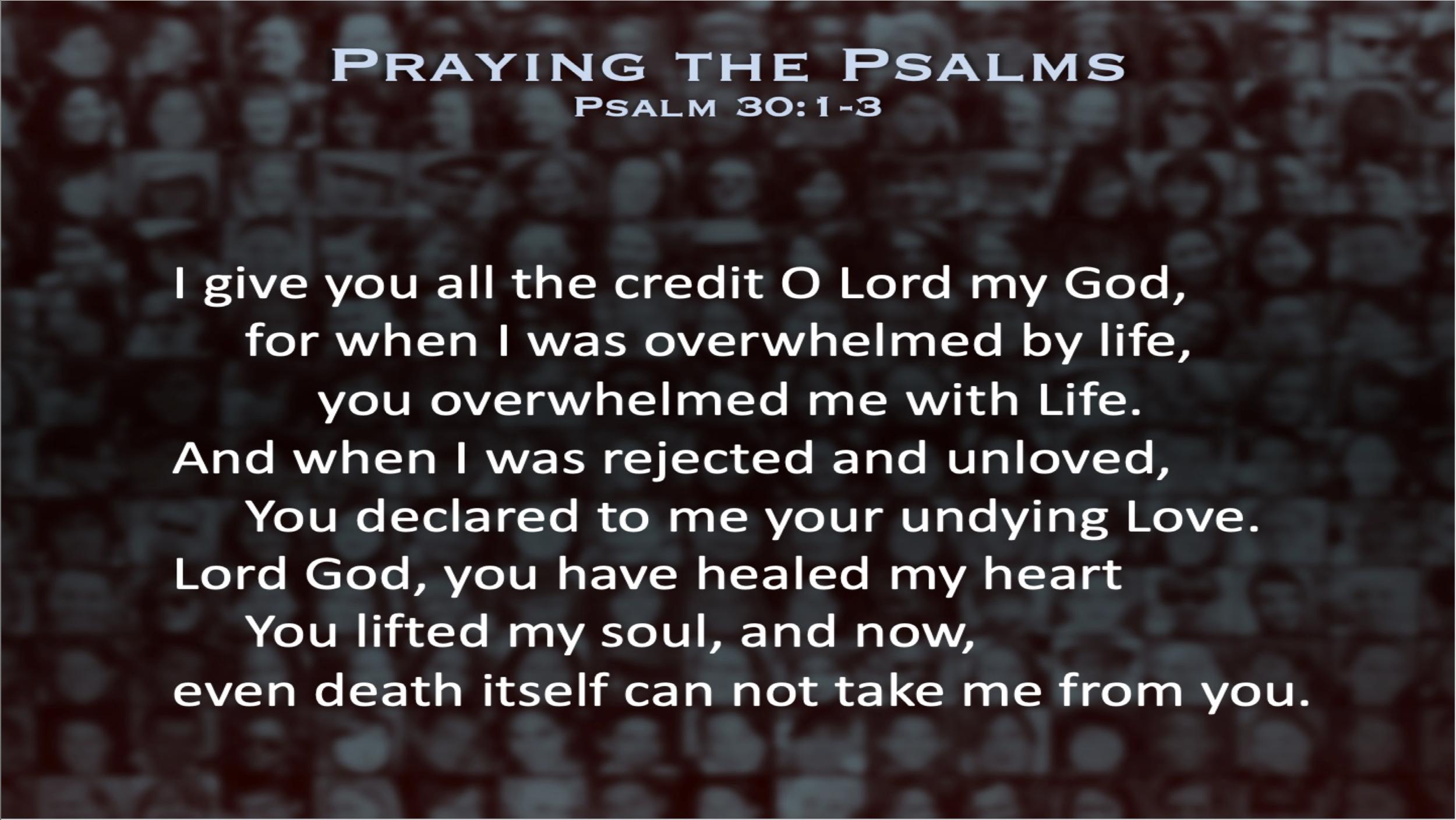 Psalm 30 (Prayer)
