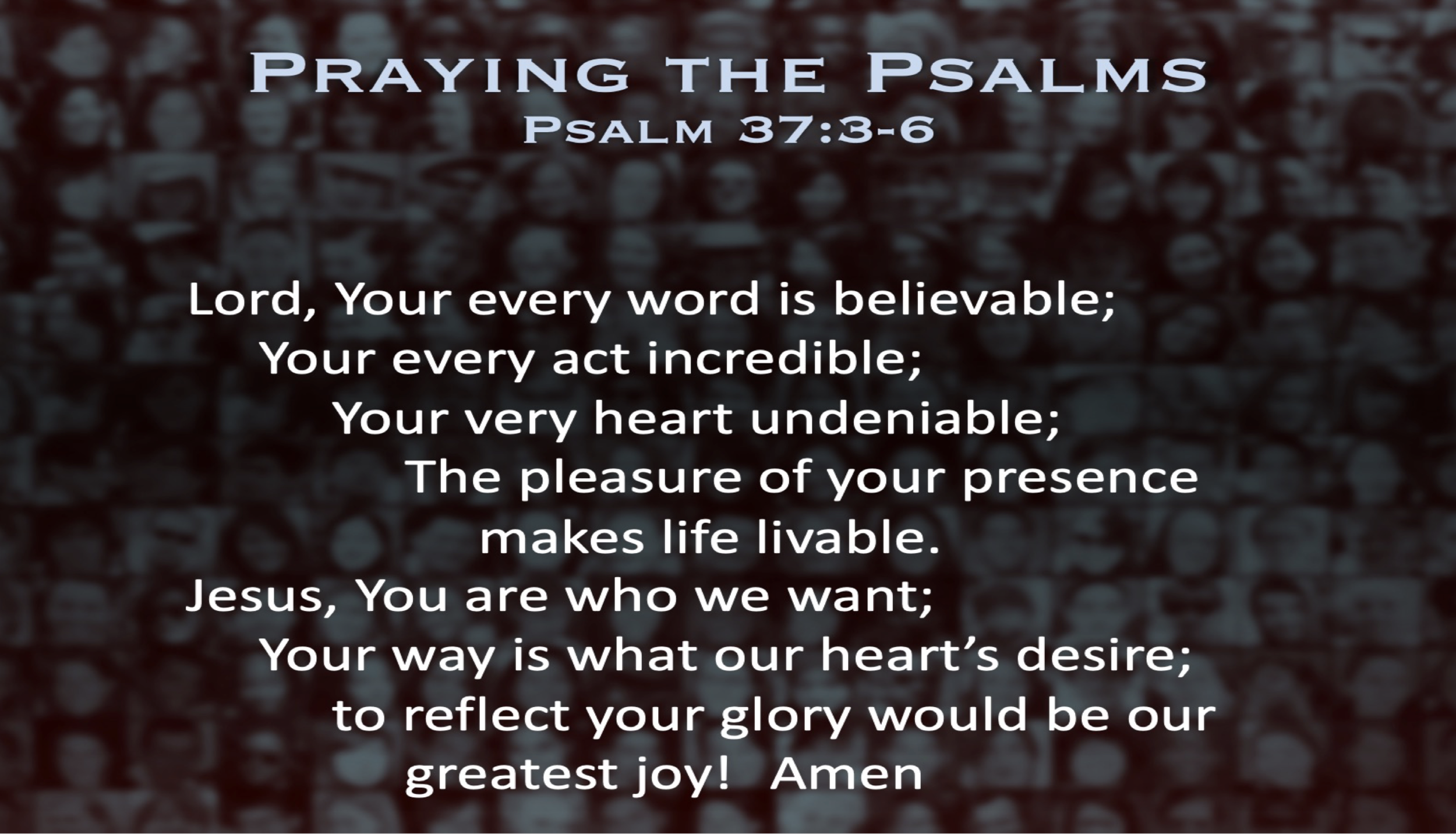 Psalm 37 (Prayer)
