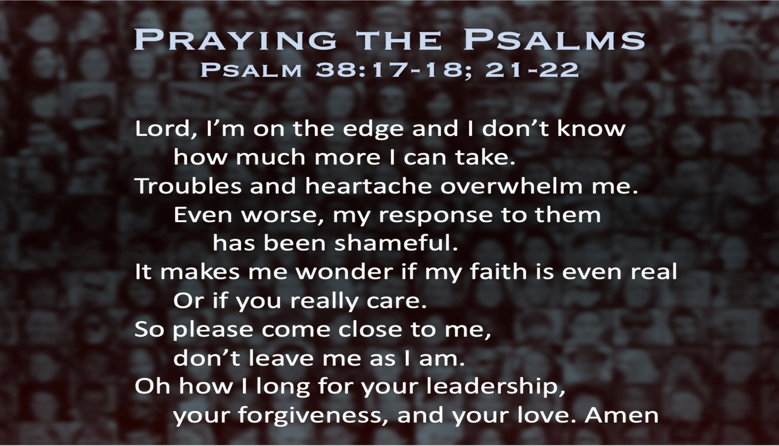 Psalm 38 (Prayer)