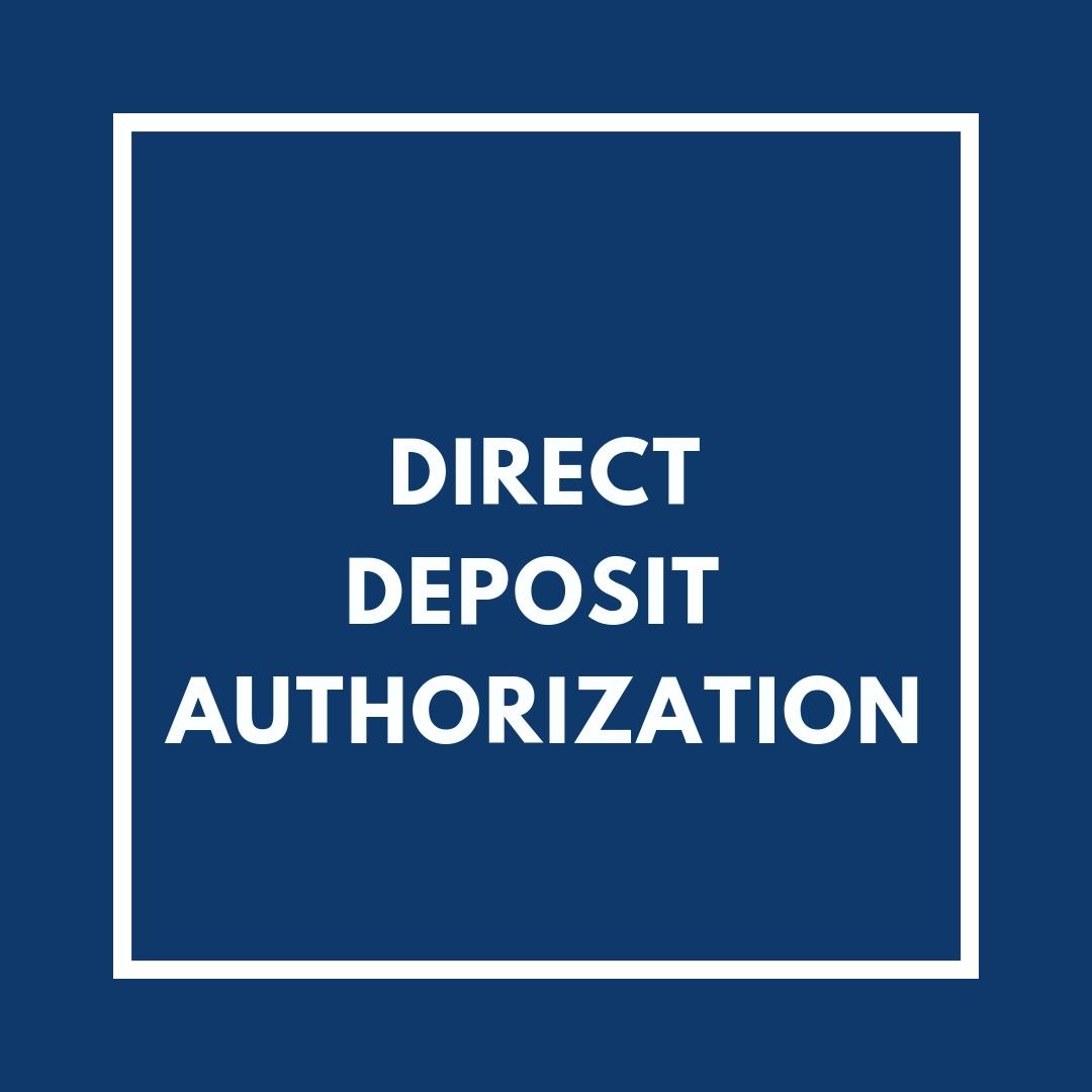 Direct Deposit Authorization