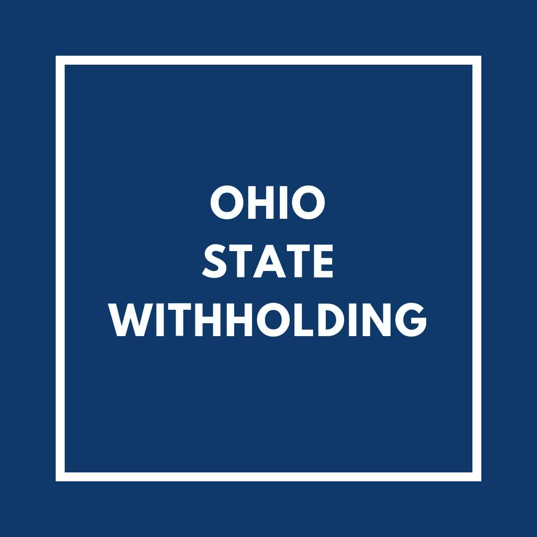 Ohio State Withholding