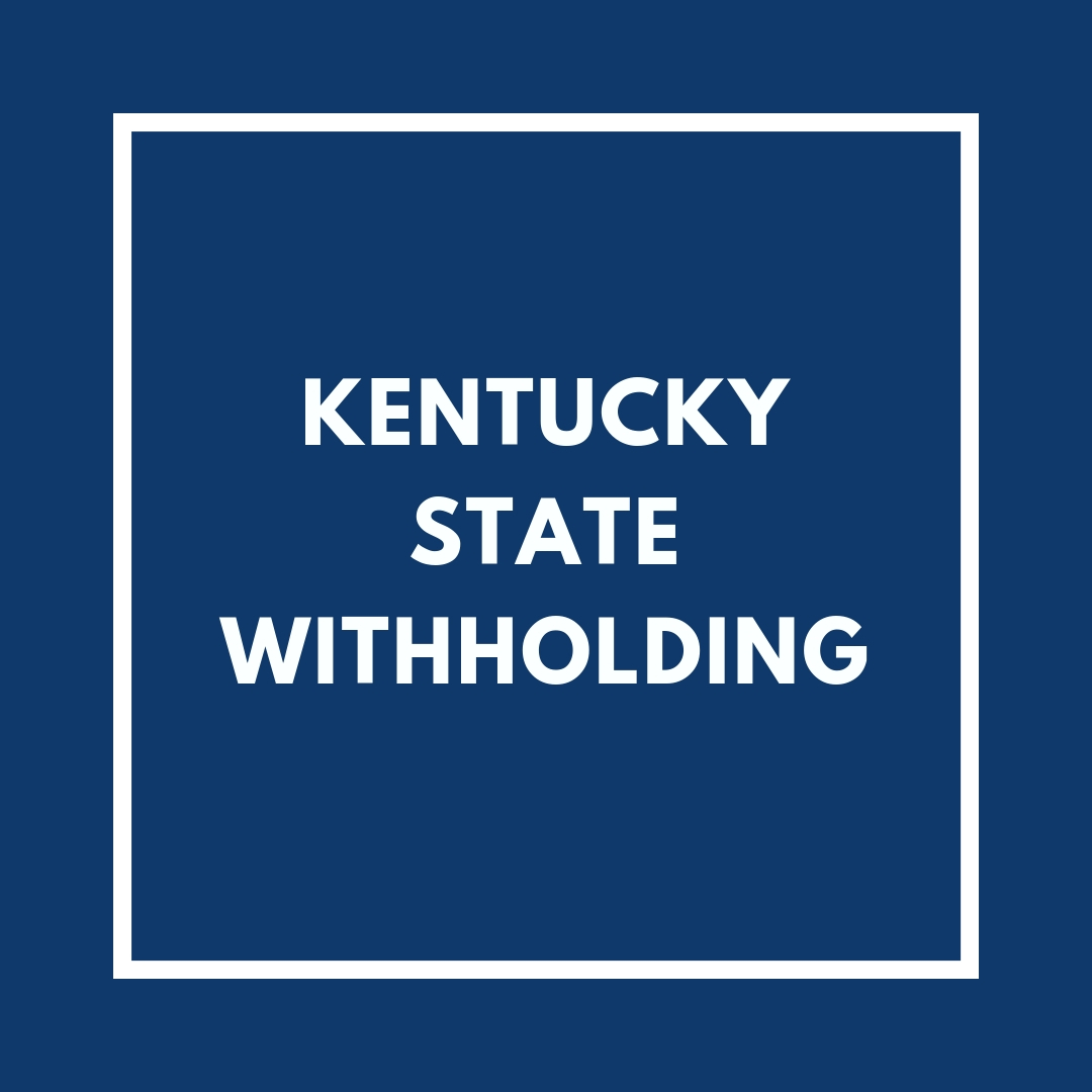 Kentucky State Withholding