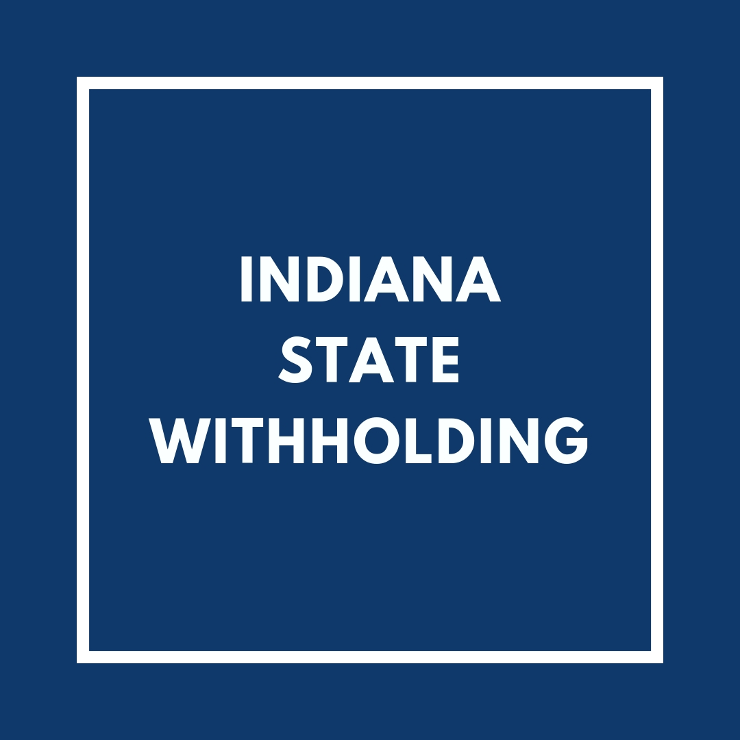 Indiana State Withholding
