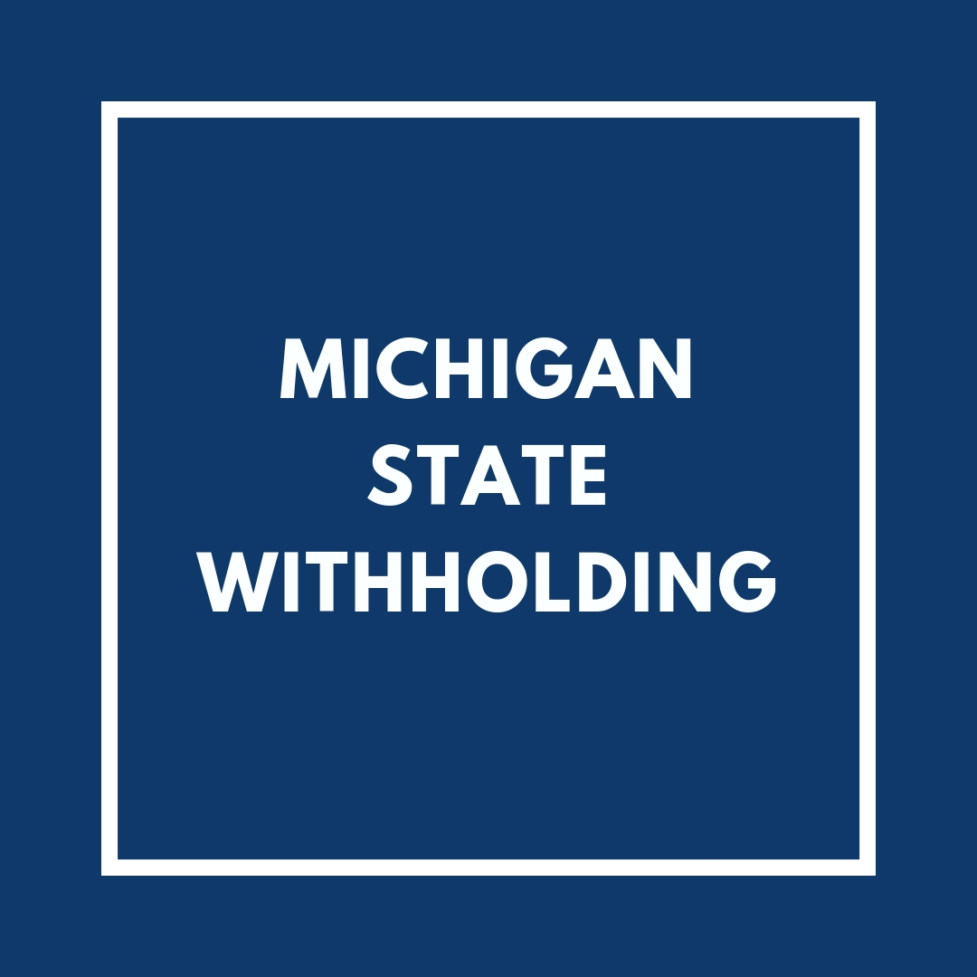 Michigan State Withholding