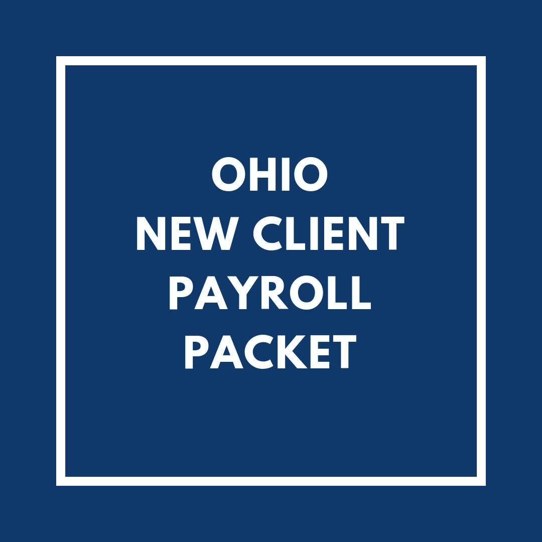Ohio New Employee Payroll Packet