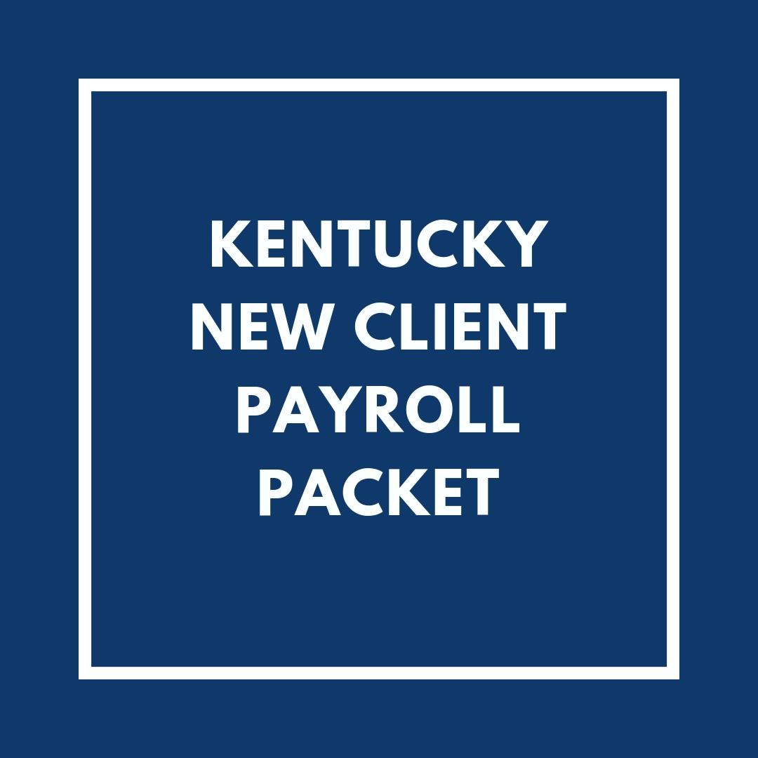 Kentucky New Employee Payroll Packet