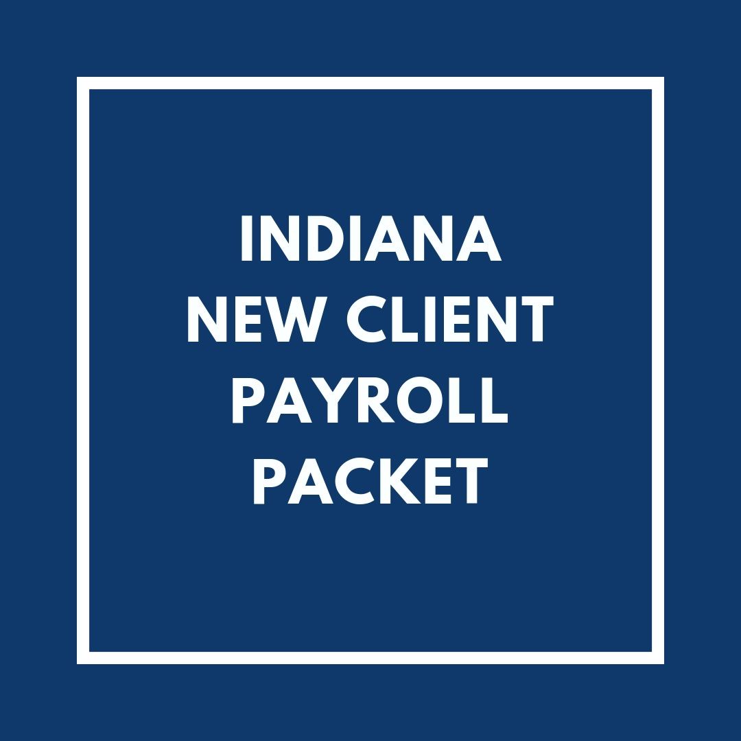 Indiana New Employee Payroll Packet