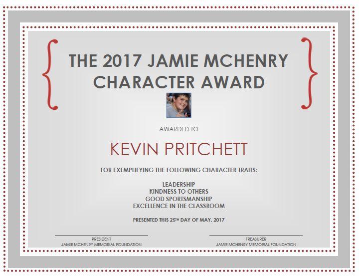 kevin p award.JPG