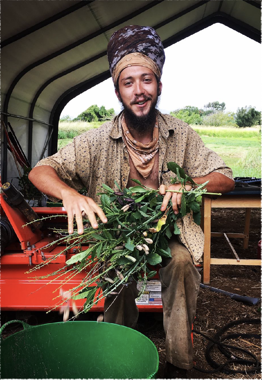 """Emil Kmetovic, 28- USA - Vision: To co-create a functional farm and living classroom to educate and inspire individuals from around the globe""""In this time of ecological decline and resource depletion we see a great need for the cultivation of useful and culturally significant heritage plants that are endangered or at risk of extinction. It is our vision to foster an ecological ark, a bastion of biodiversity, to ensure that future generations will have continued access to these precious plants and ways of living.""""For the past 4 years Emil has been living and working with Vanessa to grow our """"living classroom"""" and visionary farm/ campus on the Big Island Hawaii."""