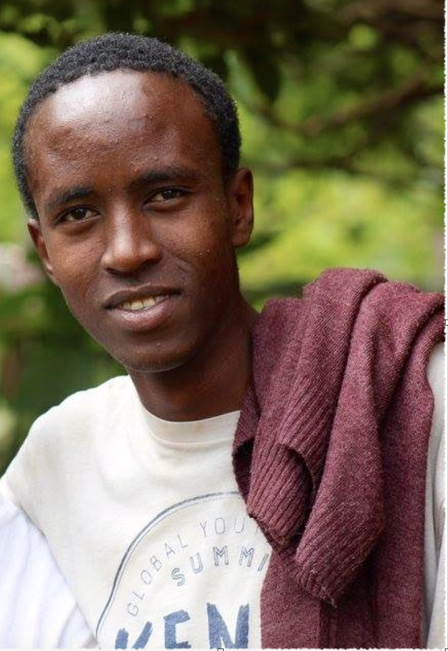 """Sarkam Abdi, 23- Kenya - Vision: To bring mindfulness and life skills to the underserved youth of Africa""""I seek ways to encourage people to own their transformation for the good of the world. I am a teacher; I create, I give and share content through life-skills teaching as a way of learning and sharing in the world. I value inclusion and human transformation through living with purpose; working on a holistic heart-aligned personal transformation life-skills teaching and bringing mindfulness to everyday of our lives.I love what I do and I am passionate in enhancing my skills in communication and sharing of ideas in human transformation. I want to grow my youthful approach in my organization through engaging content and learn from others who have made a step in the journey of human transformation.""""Abdi was a youth delegate at the Kenya Global Youth Peace Summit."""