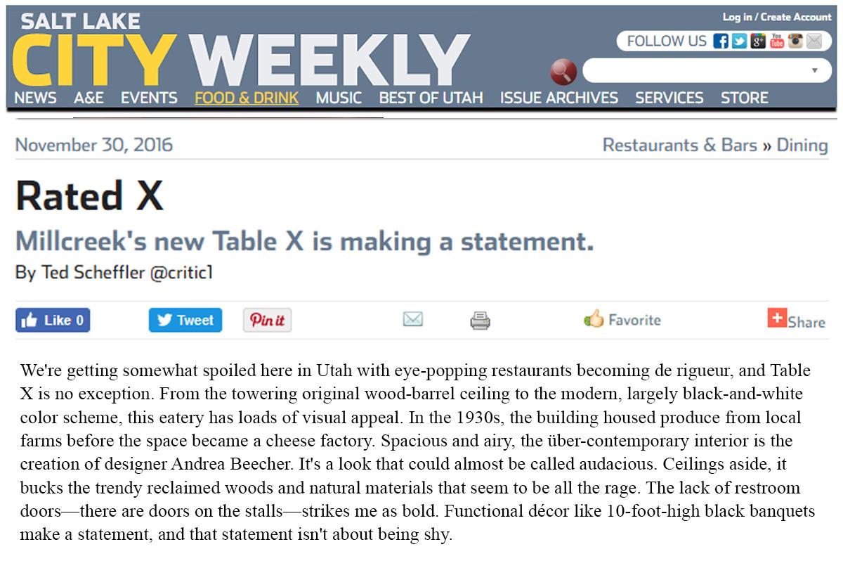 Salt Lake City Weekly - Nov 30, 2016