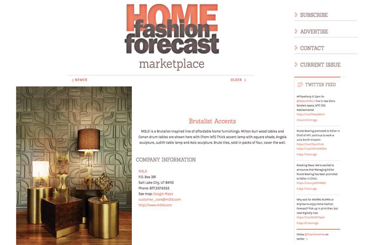 Home Fashion Forecast - March 16, 2016