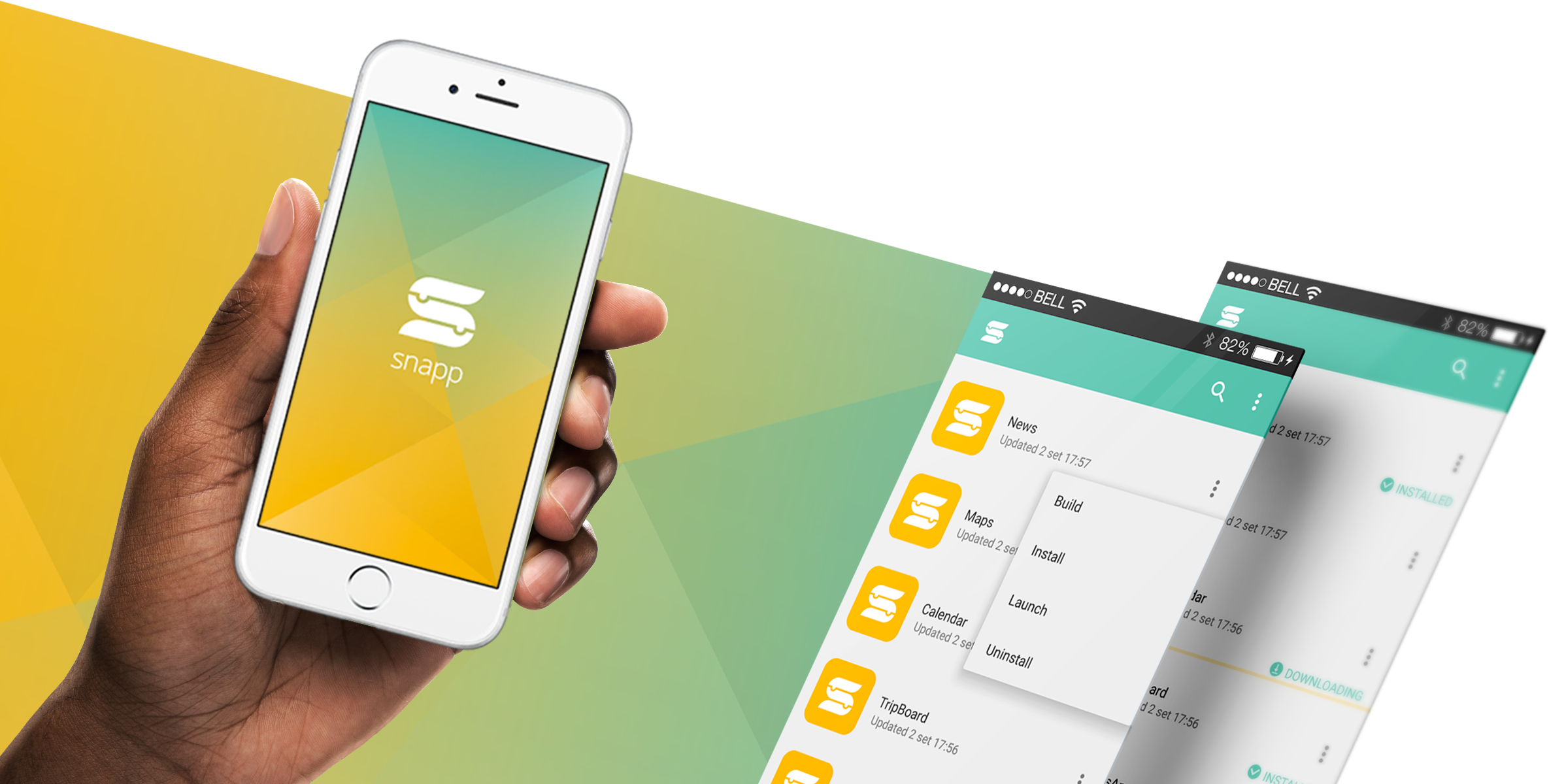 Companion app - Snapp companion is the mobile client you use in order to download the apps you create with the Snapp online editor tool.