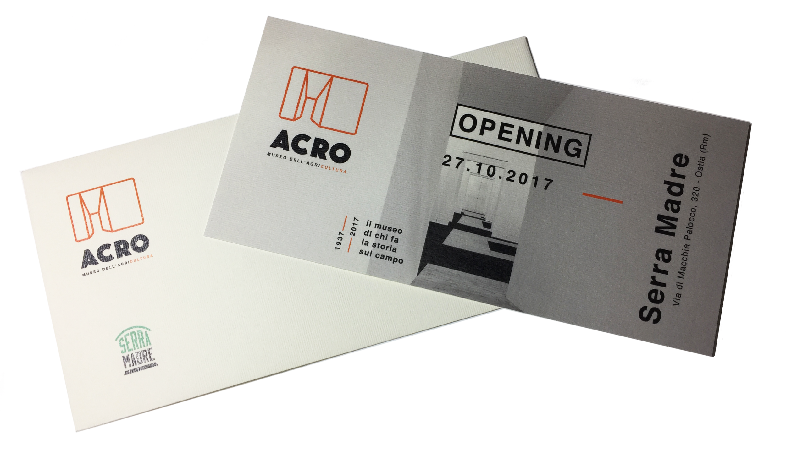 Vip invitation - special invitation,printed on rough recycled paper, in compliance with the Serra Madre company philosophy