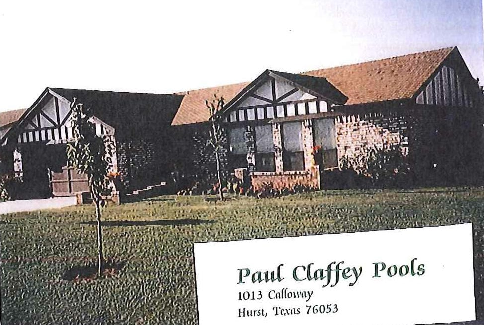 1988 - Daughter Shelly joined Pools by Paul Claffey as secretary, permit runner, and accounts receivable collector.