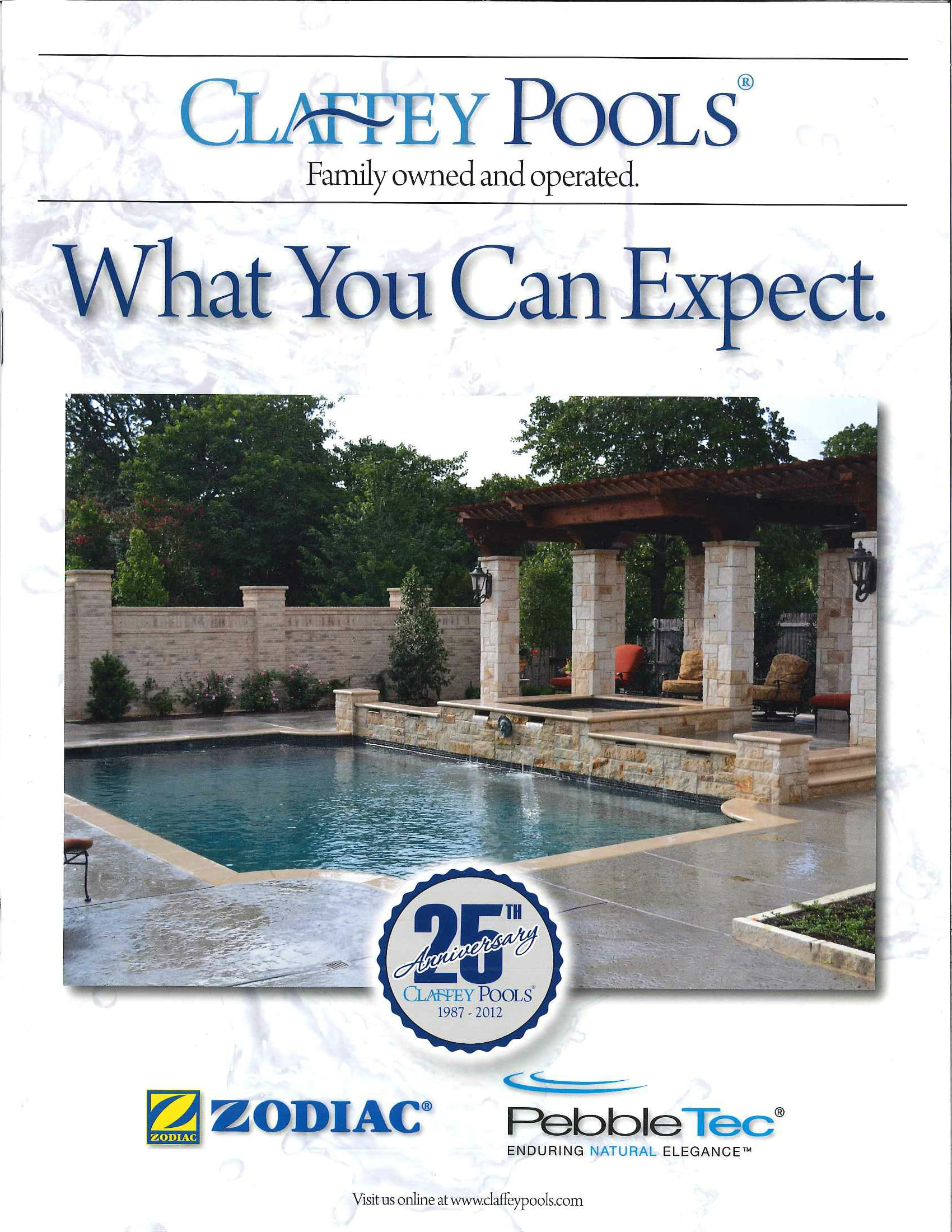 2012 - Claffey Pools celebrated their 6,000th pool during their 25th year in business.