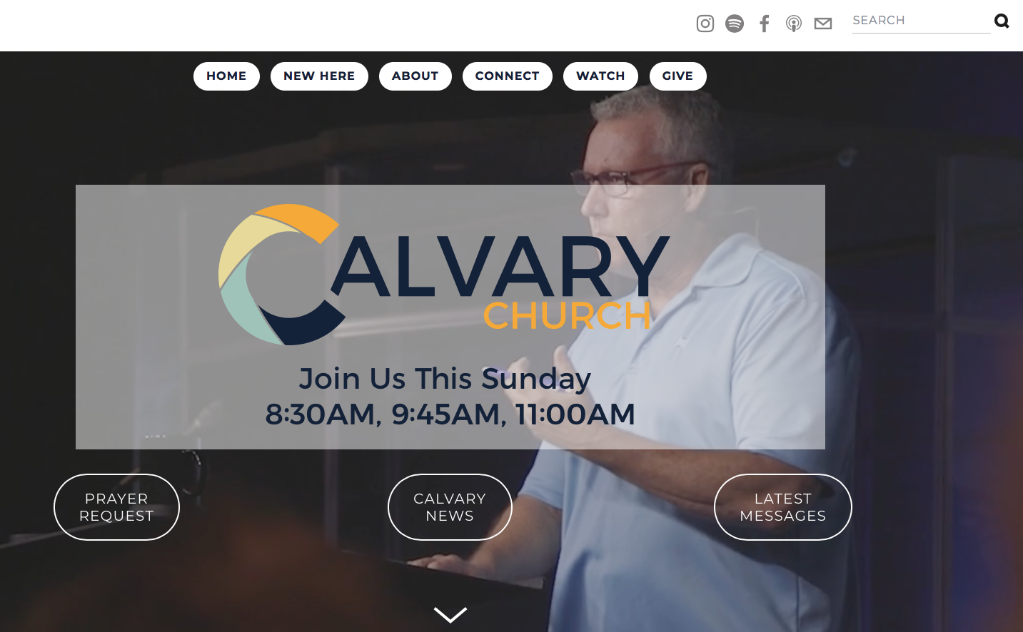 Our Website - At calvarychurchfl.com, you can find our all the happenings at Calvary. For 1st Time Guests, it is a great resource to learn more about ways Calvary supports families in their walk with the Lord. It also lets you know the different ways you can get connected with events and serving. Our website also includes a tremendous Message Library.