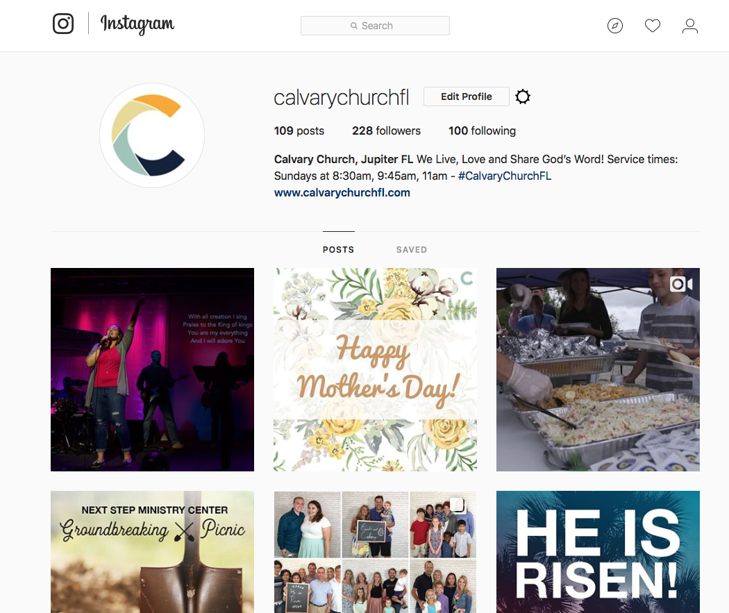 Instagram - To see events at Calvary or to reflect upon the happenings, check out Calvary's Instagram. From reminders about special events to stories of great things happening, this is a great place to check out all that Calvary is doing weekly.
