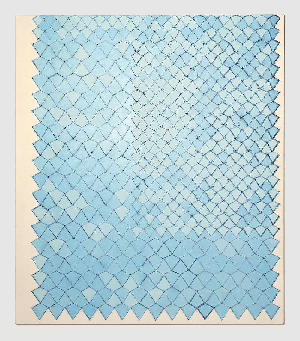 Adia Wahid   Netting Disrupted , 2016  Oil on Canvas  150cm x 130cm