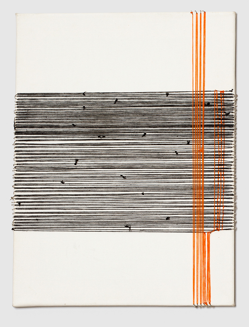 Adia Wahid   No Strings Attached , 2012  Embroidery Thread on Canvas  40cm x 30cm