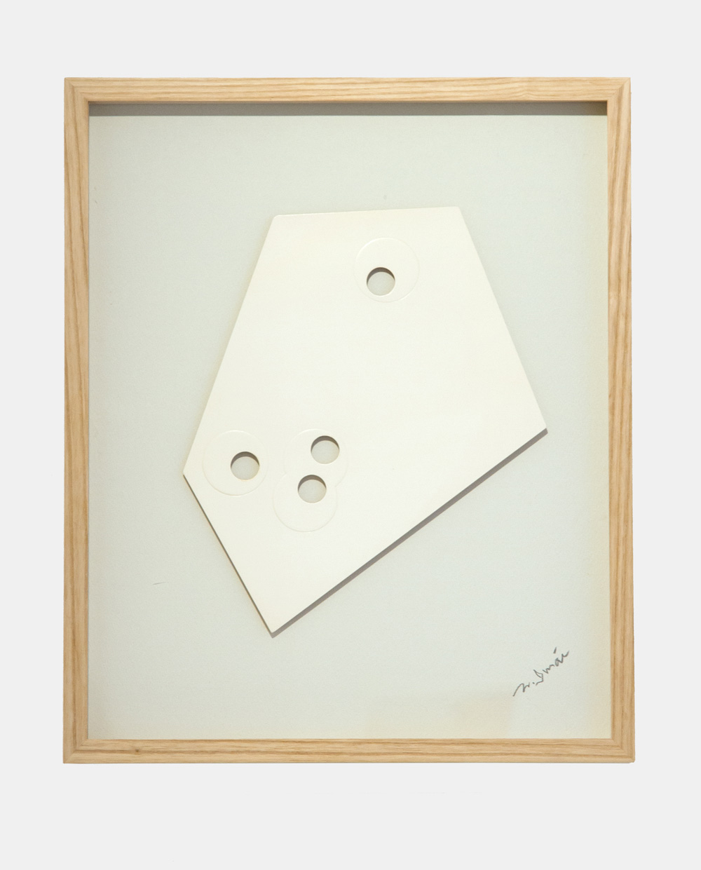 Norio Imai   White piece-A,  1966  emboss, punching, paper  44cm × 36.5cm × 3.3cm (frame)