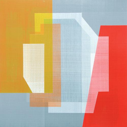 Andre Stitt   Seymour Hill 1 , 2016  Acrylic on wood panel  51 x 51cm