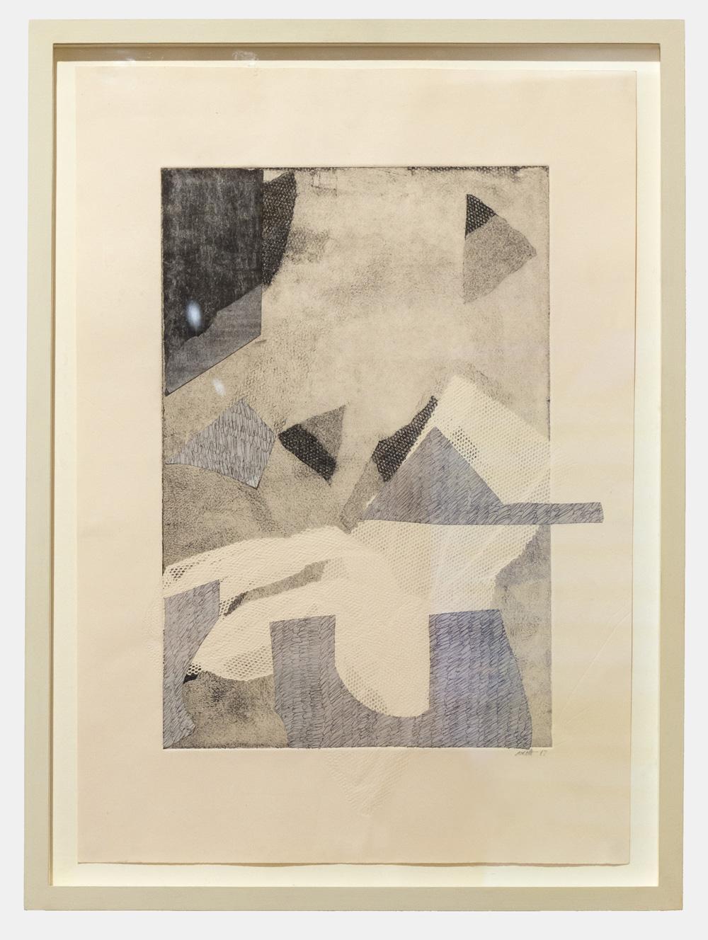 Jasmine Garrett   Free Verse , 2017  Monotype Collage  29.7cm x 21cm