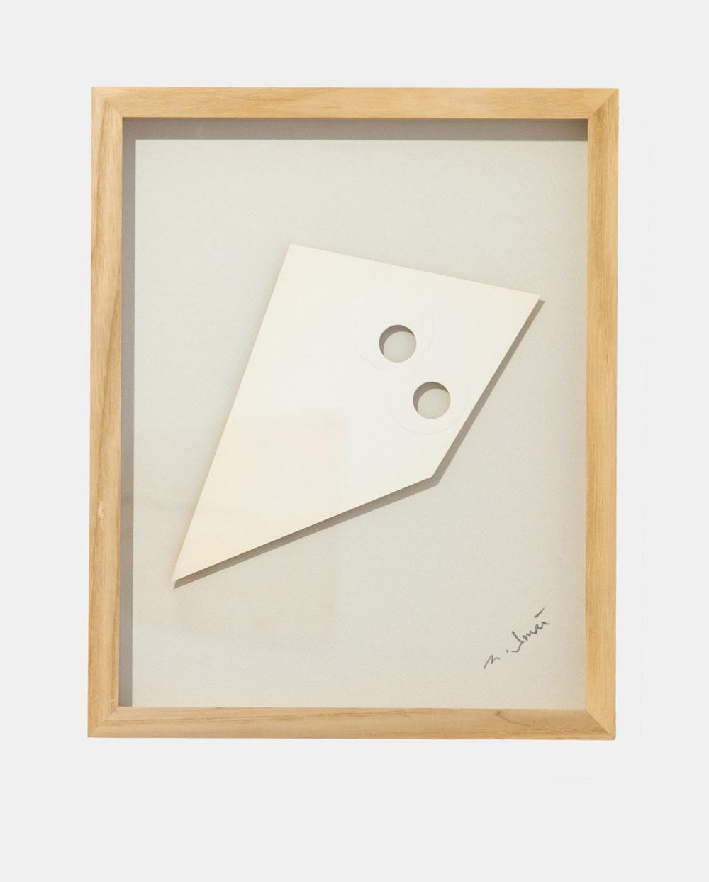 Norio Imai   White piece-B , 1966  emboss, punching, paper  31.9cm x 25.9cm × 3.3cm (frame)