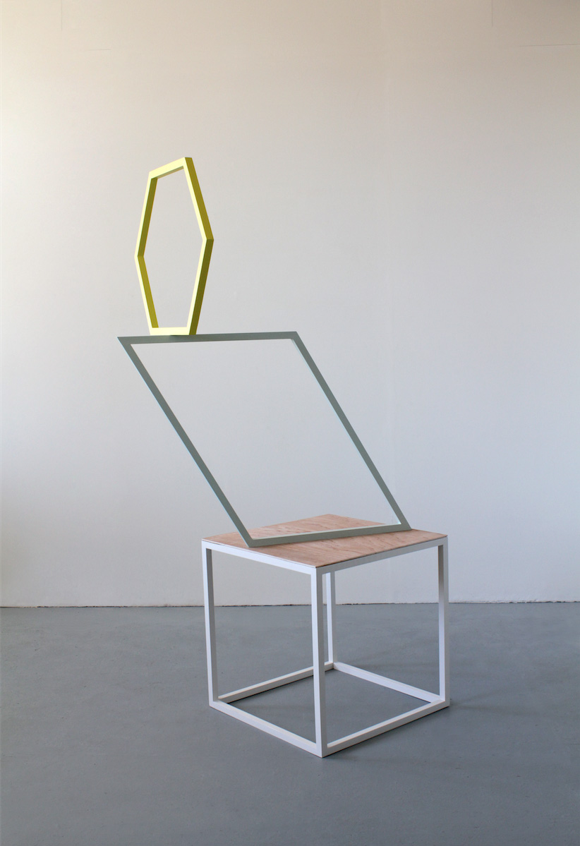 Kate Terry  'Series IX no.4', 2015  Painted wood, plywood  155cm x 65 x 50cm