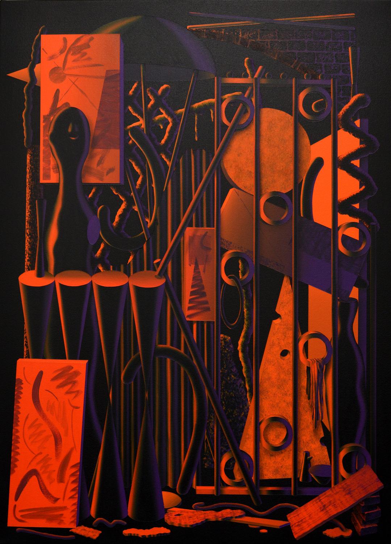 Lee Marshall   Midnight II , 2016  Acrylic on canvas  110 x 80 cm