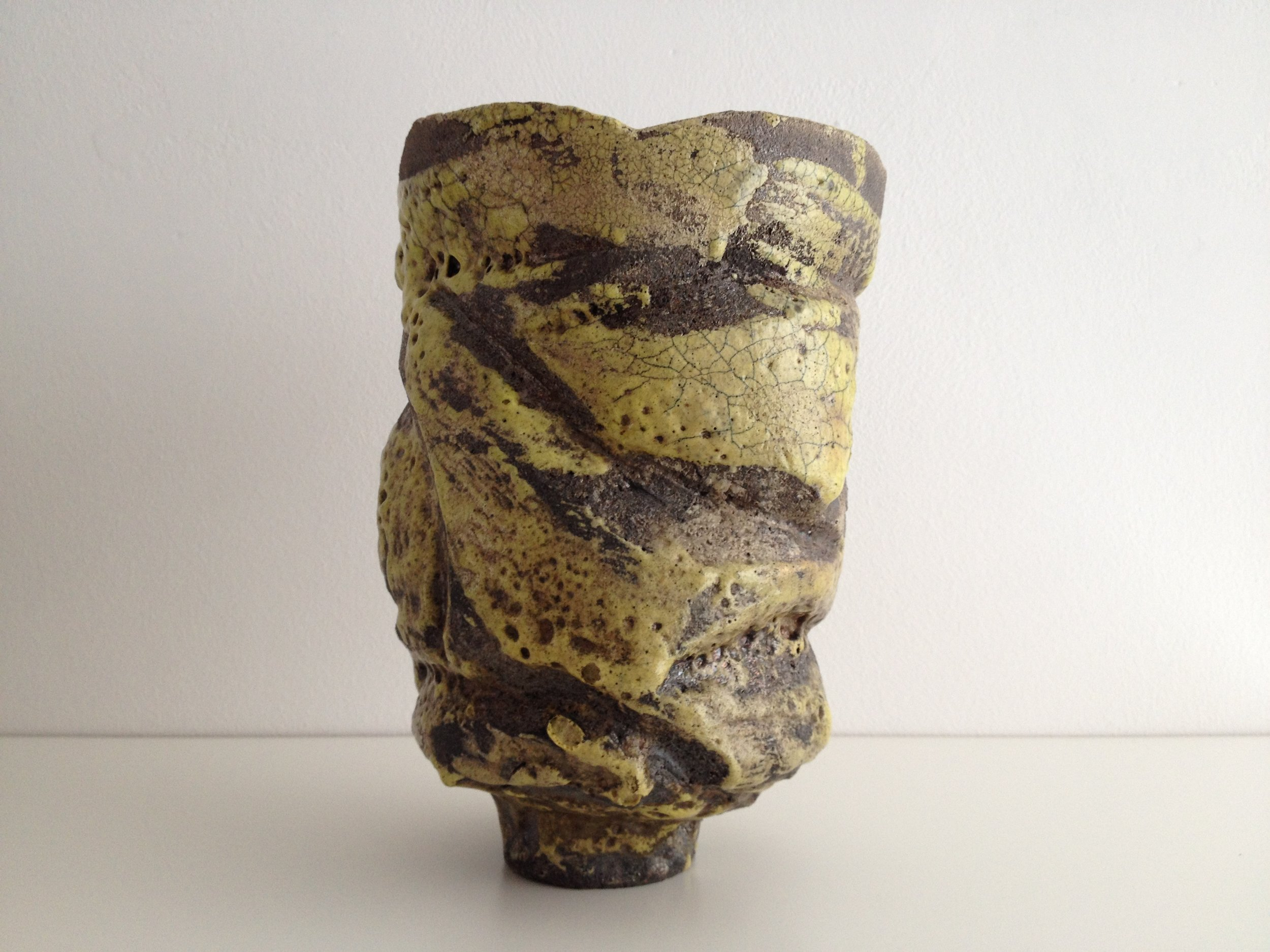 Dante Elsner  Untitled, c 1980  19 cm high x 13 cm diameter  Raku