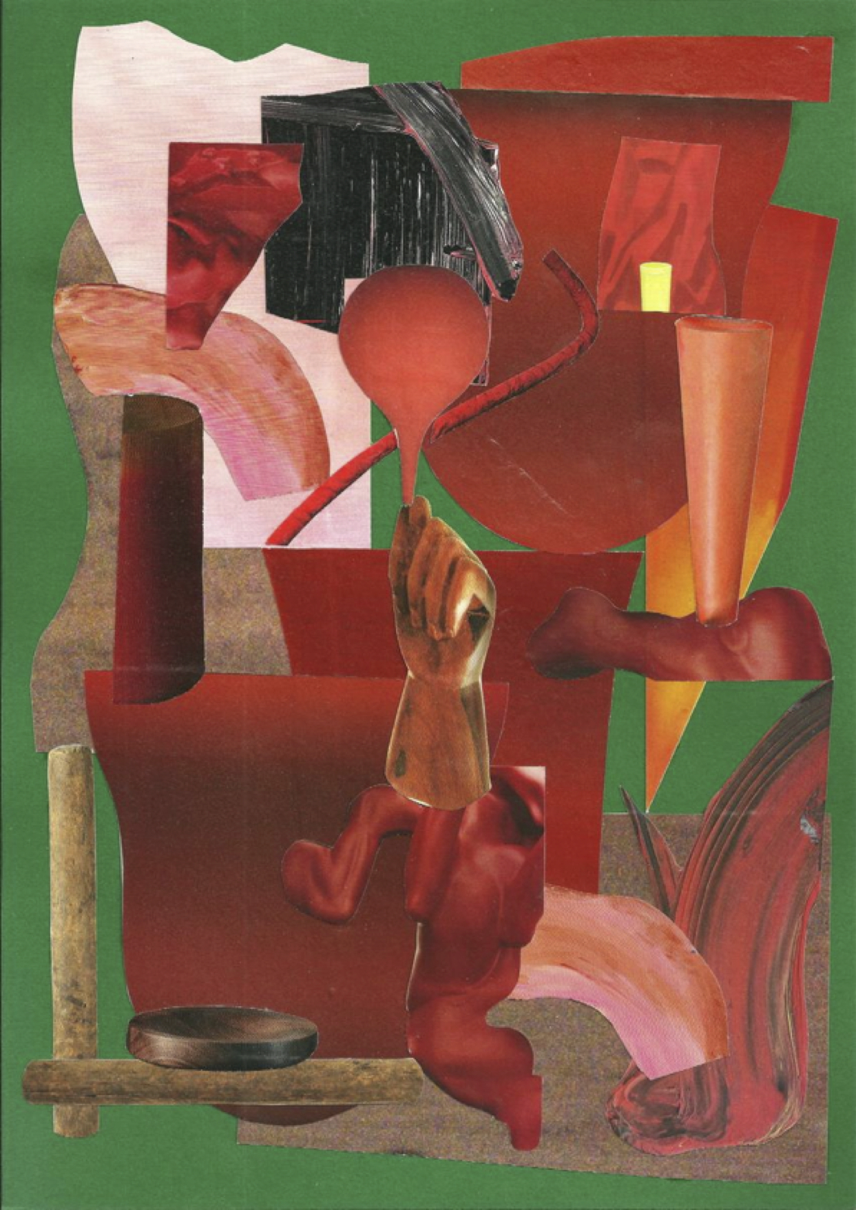 Diablo  Study, 2018 Collage on card 25 x 34cm (framed) 21.1 x 29.7cm (unframed)
