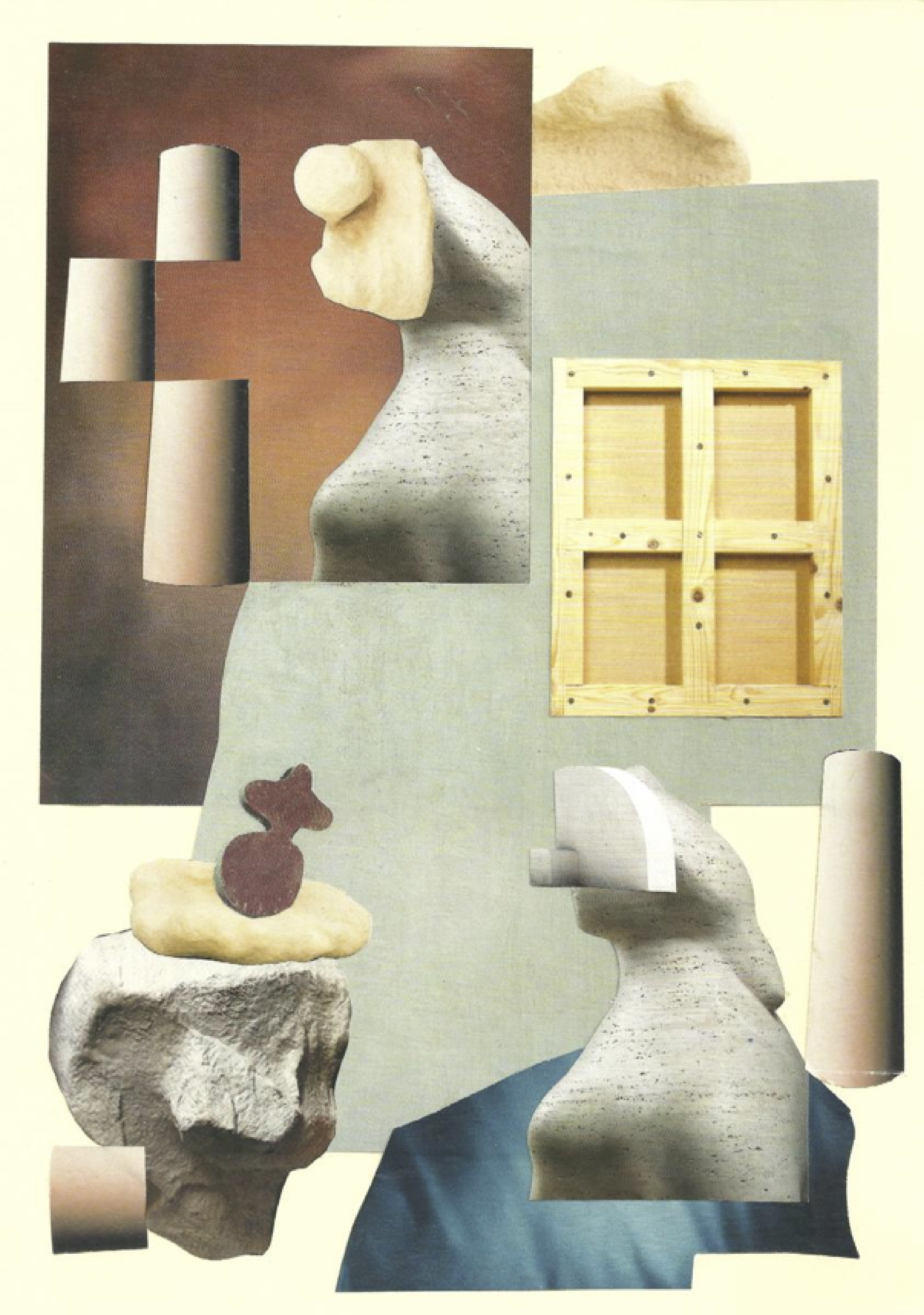 Duo  Study, 2018 Collage on card 25 x 34cm (framed) 21.1 x 29.7cm (unframed)