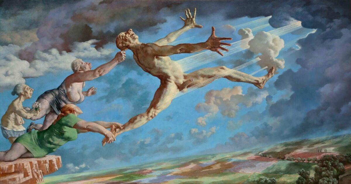Sasha Okun  Unsuccessful Escape  2008-2012, Oil on board 159 x 301 cm