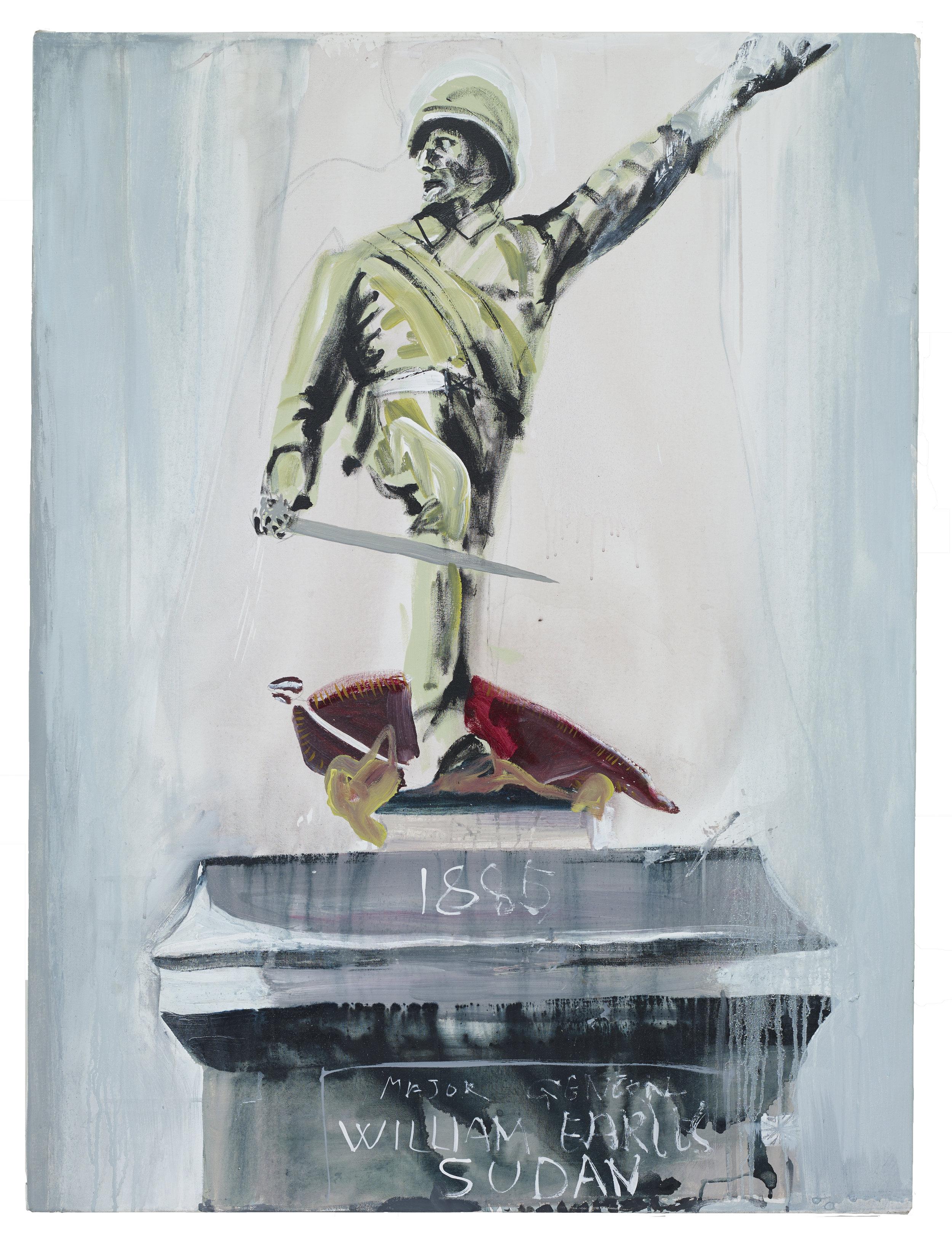 Brian Maguire  Mr William Earles, Sudan 1880 ,  2018 Acrylic on canvas 120 x 92 cm