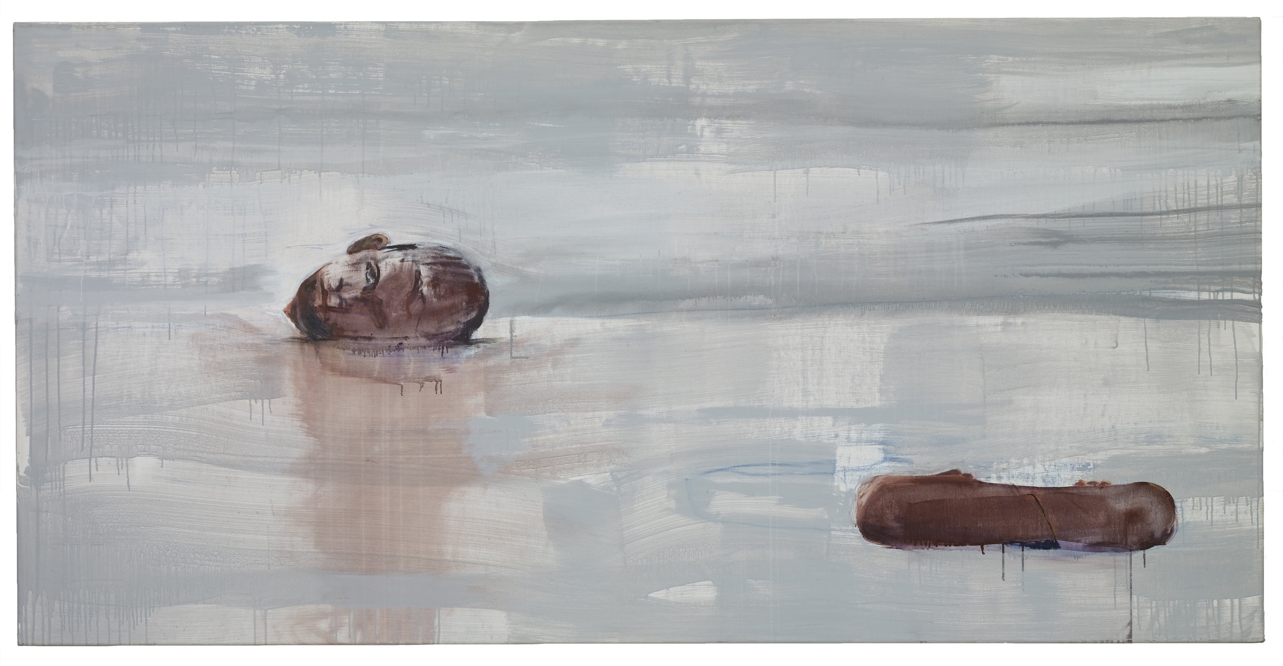 Brian Maguire  Nature Morte (6) ,  2014 Acrylic on linen 110 x 220 cm